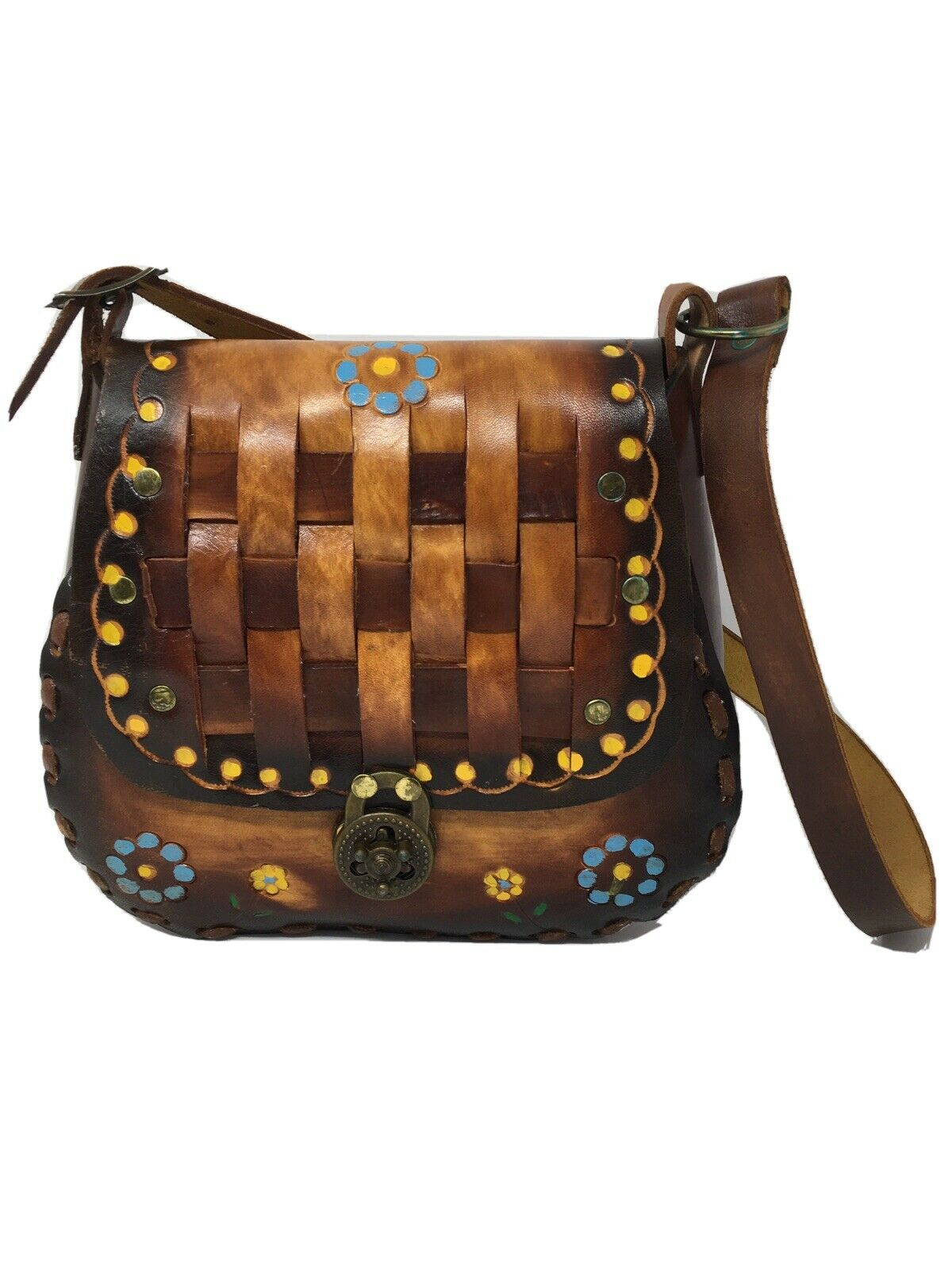 Hand-Painted Leather Purse