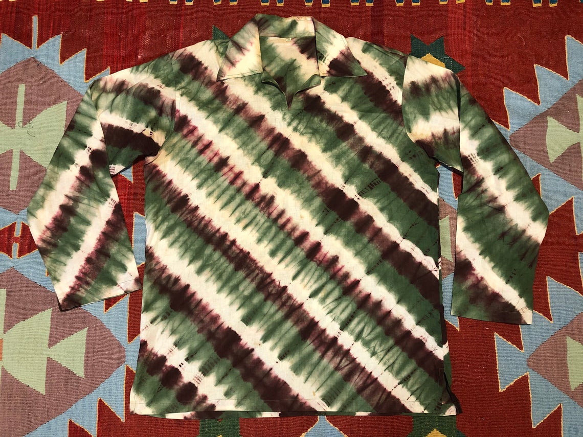 1970s Tie Dyed Shirt